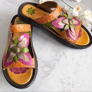 Elite by Corkys Hand Painted Leather Sandals  6